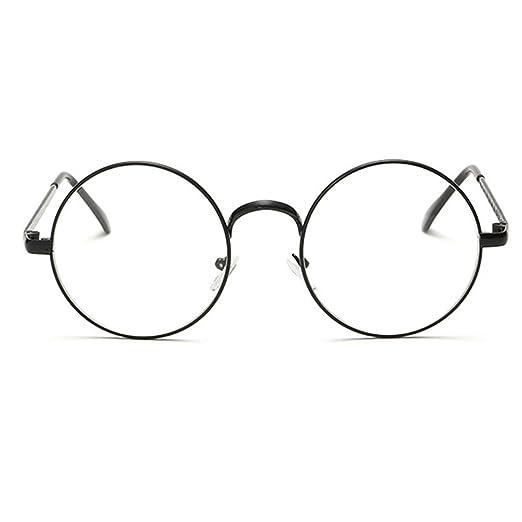 Heheja Donna Uomo Vintage Tondi Occhiali da Vista Unisex Metallo Montatura Eyewear No6 C376hL