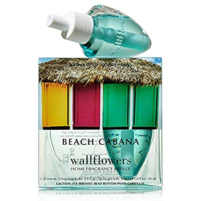 Bath & Body Works Wallflowers Home Fragrance Refill Bulbs 2 Pack Beach Cabana