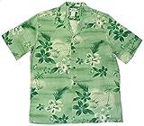 Two Palms Mens Moonlight Scenic Shirt Green 4X