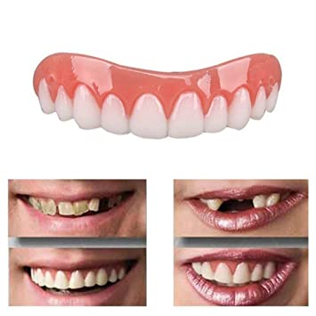 Amazon Com False Tooth Whitening Teeth Stickers Silicone