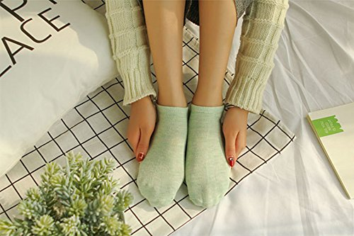 Generic [10 pairs installed] fresh cotton candy color comfortable breathable School Ms. Fan Beautiful socks women girls lady socks