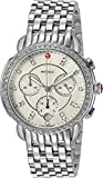 MICHELE Women's 'Sidney' Swiss Quartz Stainless Steel Casual Watch, Color Silver-Toned (Model: MWW30A000001)