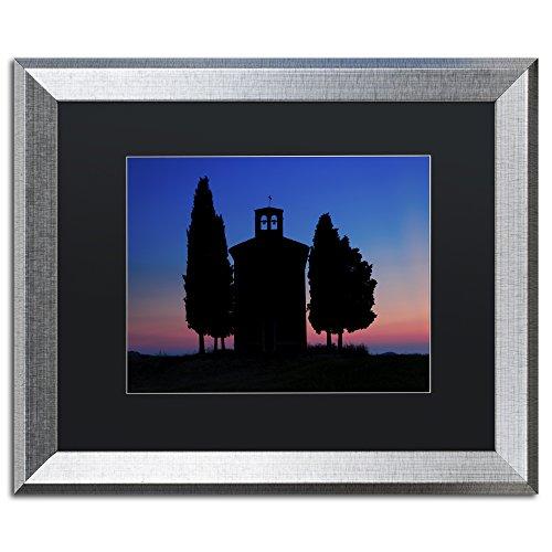 Trademark Fine Art 'Vitaleta Chapel' Canvas Art by Michael Blanchette Photography, Black Matte, Silver Frame