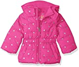 Pink Platinum Baby Girls' Infant Printed Foil Star Puffer Jacket, Bright Pink, 18 Months