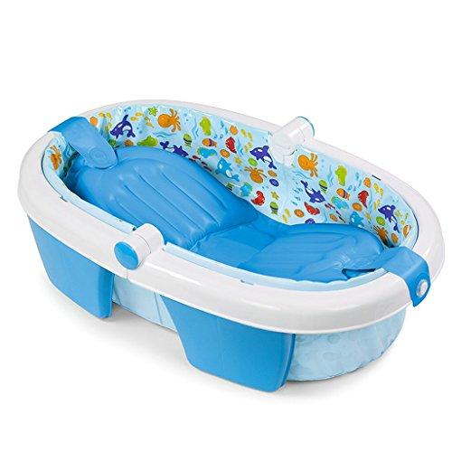 HUACANG Bañera Plegable Inflable bañera bebé bañera Acolchada, bañera Antideslizante portátil para niños pequeños...