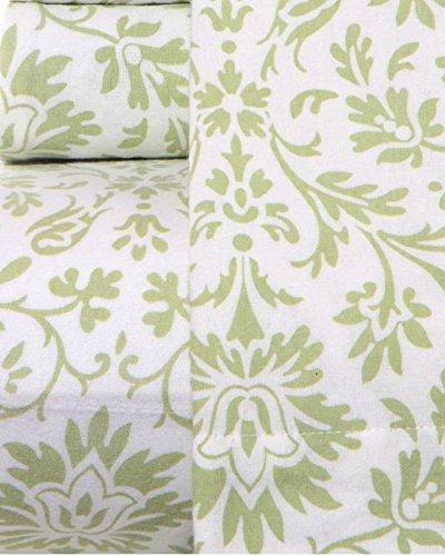 Laura Ashley Flannel Queen Sheet Set: Laura Ashley Flannel Sheet Set, Jayden Sage, Queen
