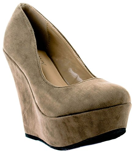 Taupe High Shoes Trendy Delicacy 33 Women's Heels q8xwSY4