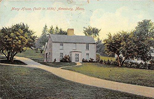 Macy House built in 1654 Amesbury Massachusetts - Massachusetts Macy's In