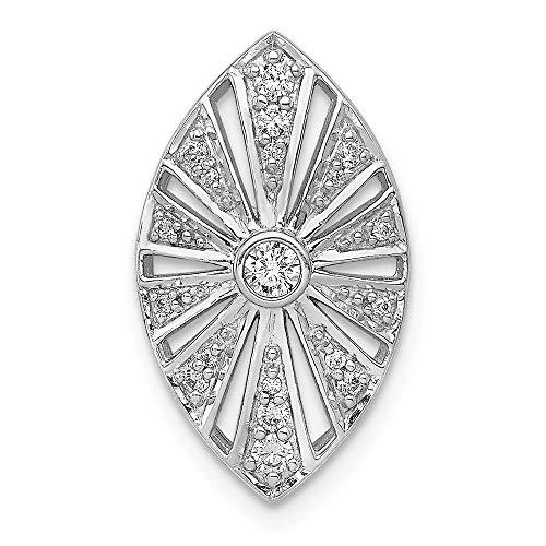 Jewelry Pendants & Charms Slides 14k White Gold Diamond Vintage Chain Slide ()