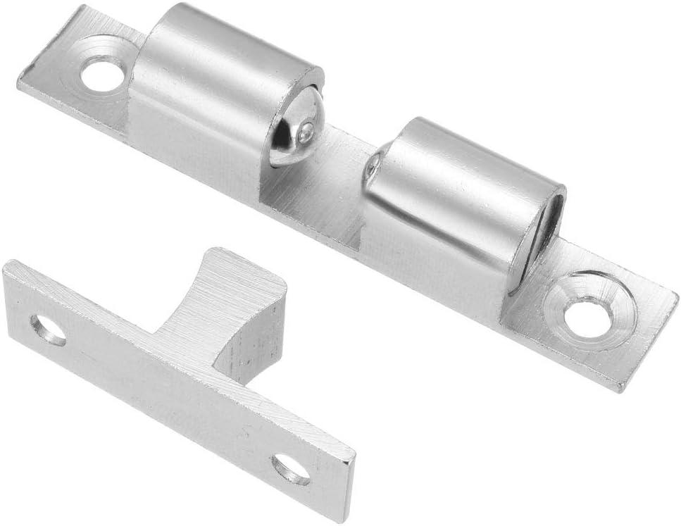 Sourcingmap Cabinet Porte de placard double Loqueteau /à billes en laiton Loquet de tension 42/mm Longueur Gold Tone 2/pcs