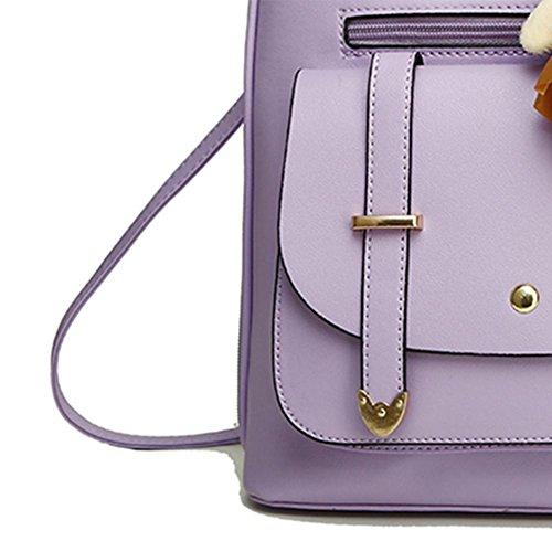 Domybest dos Sac pour noir femme au à main violet porté Noir rn6Zr7aB