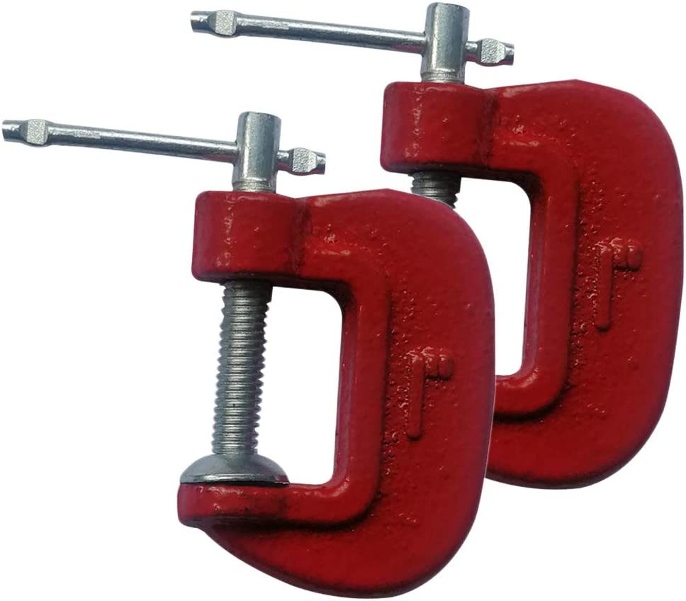 Baoblaze 2 Piece 1 CAST Iron G CLAMP Heavy Duty Wood//Metalworking Welding C Grip VICE