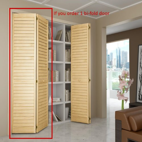 Closet Door, Bi-fold, Louver Louver Plantation (36x80) - Closet ...