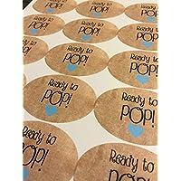 Ready To Pop Stickers, Custom Stickers, Ready to Pop, Labels, Ready to Pop baby Shower, Stickers, Custom Sticker, Sticker Label.15 STICKERS