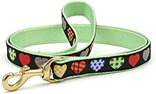 product image for Up Country COH-L-N Dog Lead Narrow 5/8 Inches Multi-Coloured Hearts