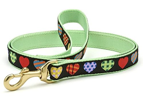 6 Ft Wide Up Country colorful Hearts Dog Leash 6 Ft Wide