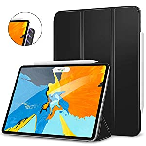 "MoKo Magnetic Smart Folio Case Fit iPad Pro 11"" 2018 - [Support Apple Pencil Magnetically Attach Charge/Pair] Slim Lightweight Shell Stand Cover, Auto Wake/Sleep for iPad Pro 11 Inch - Black"