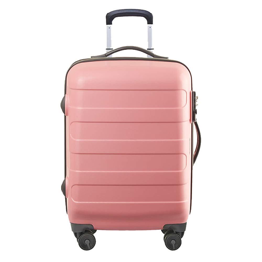 トロリー荷物ユニバーサルホイール女性の旅行トロリーケース20インチの大学生のパスワード搭乗荷物ピンク48.5 * 24 * 34.5CM B07KRB28W7