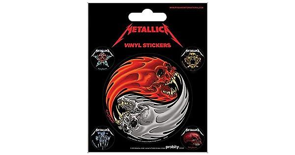 Amazon.com: Metallica calcomanía adhesivo – Yin & Yang ...