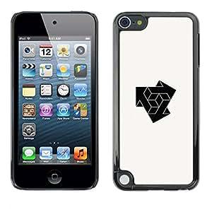 PC/Aluminum Funda Carcasa protectora para Apple iPod Touch 5 cube combine logo / JUSTGO PHONE PROTECTOR