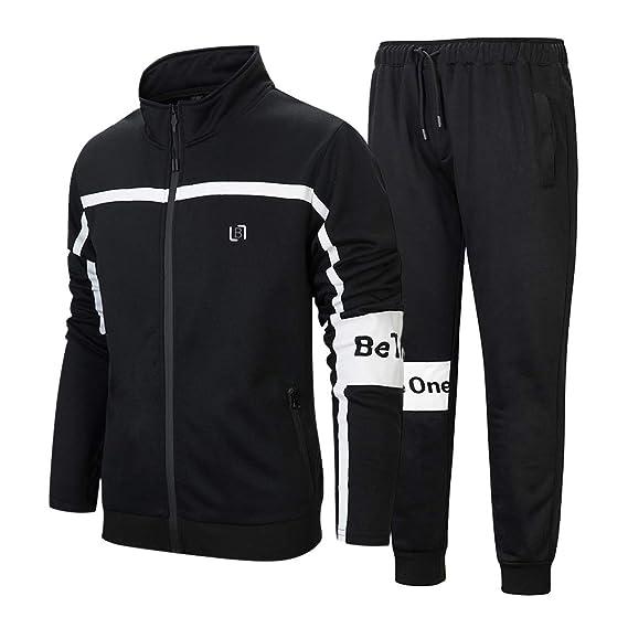 Mens Jogging Jog Suit hooded Fleece Full TrackSuit jkt+pants S-XXL