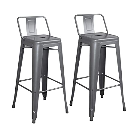 Stupendous Amazon Com Gy Bar Stool 2 Piece Set With Backrest Counter Bralicious Painted Fabric Chair Ideas Braliciousco