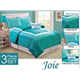 "3-Piece Turquoise Blue ""PEACE"" Bedding Comforter Set Bed In A Bag Twin Girls Kids Teen"
