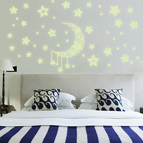lifeup- adesivi murali luminescenti fluorescenti camera da letto ... - Decorazioni Muro Camera Da Letto