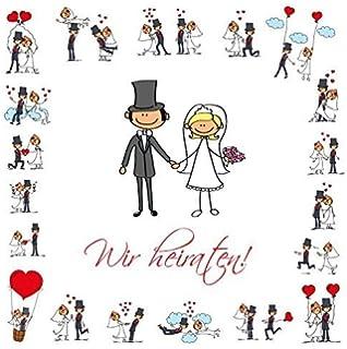 Einladungskarten Zur Hochzeit 20 Stuck Als Eintrittskarte Im