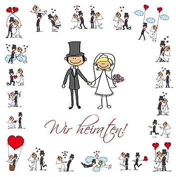Lustige Einladungen Zur Hochzeit, Bestehend Aus Je 10 St.  Hochzeitseinladungen + 10 Passenden Briefumschlägen