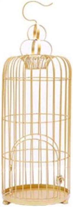 ART-YJ Jaula De Pájaros, Color Dorado Metal Jaula De Viaje por Periquito Pájaros del Amor Mejilla Verde Canario Perico Cacatúa Pequeño Loro Nidos para pájaros (Color : M)