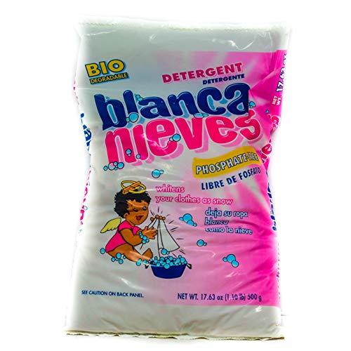 BLANCA NIEVES Powder Laundry Detergent - Phosphate Free | Biodegradable - 17.63 Oz. (500 g) Package (3)