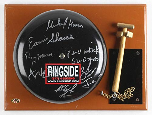 Earnie Shavers Judah Moorer Mercer Whitaker + Multi Signed Ringside Boxing  Bell - Autographed Boxing Miscellaneous Items