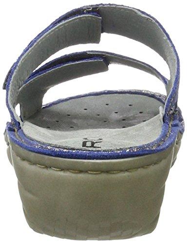 Pantoletten Rohde Blau Cremona Jeans Damen SZw6a