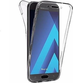 PLANETMOVIL× Funda Compatible con Samsung Galaxy J3 2017 (J330) Delantera + Trasera Doble 100% Transparente (J320F)(2017): Amazon.es: Electrónica