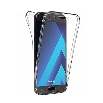 PLANETMOVIL Carcasa Compatible con Samsung Galaxy J7 (2017) Funda DE Silicona Delantera + Trasera Doble 100% Transparente