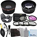 Vivitar 52mm 0 43x Wide Angle Lens + 2 2x Telephoto Lens + 3 Pieces Filter Set + 4Pc Close Up Lens + Lens Hood with Deluxe Lens Accessories Kit for Nikon 18-55mm 3 5-5 6G ED II AF-S DX Zoom-Nikkor Lens Nikon 40mm 2 8G AF-S DX Micro-Nikkor Lens and Nikon 4の商品画像