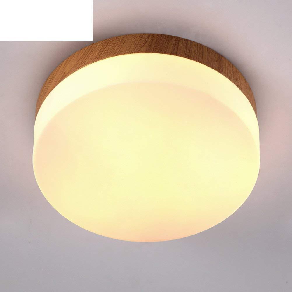 J&Z Einfache Creative Ceiling Lampe Wood Balcony Corridor Küche GangLED-Rundlicht,A