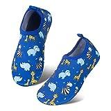 Toddler Kids Water Shoes Lightweight Non-Slip Aqua Socks Shoes for Beach Walking for Boys Girls Toddler(ChJL/Blue,16/17)