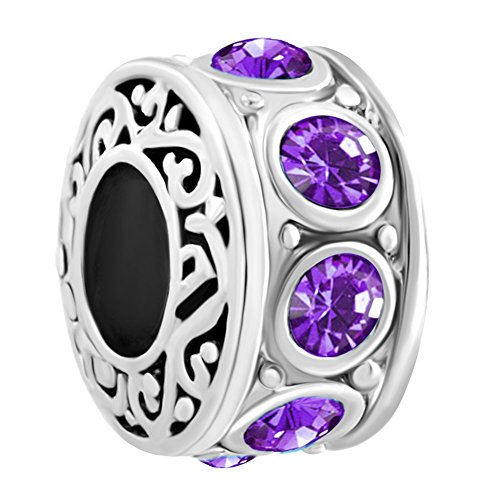 LovelyJewelry Filigree Charm February Bi - Deep Purple Stone Shopping Results