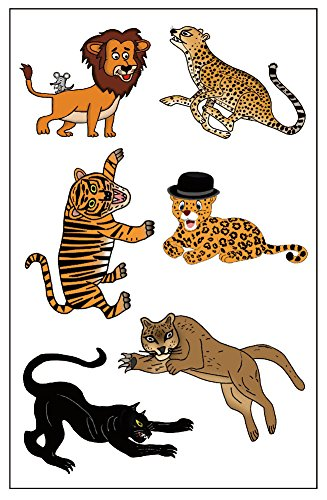 Premium Big Cat Tattoos: Lion, Cheetah, Tiger, Jaguar, Black Panther, Mountain Lion/Cougar