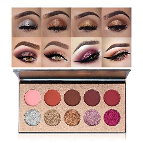 Beauty Blazed Eye shadow Cosmetics Palette 10 Colors Waterpr