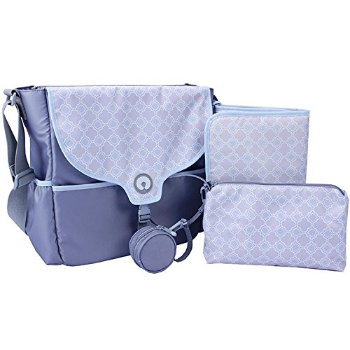 Somerset Tote - Boppy Vail Diaper Bag, Somerset, Blue/Grey