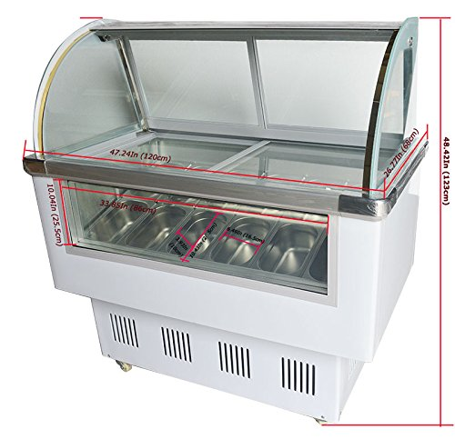 14 pan Gelato Ice Cream Freezer Display Cases Display chest freezer