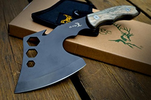 11″ Tactical Survival Wood Throwing AXE Hatchet Tomahawk Hawk Hunting w/ Sheath