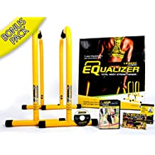 Lebert Fitness Equalizer Parallettes Gymnastic Bars Pull Up Station Push Ups Bars Dip Machine