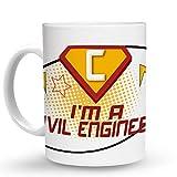 Makoroni - I'M A CIVIL ENGINEER Career - 11 Oz. Unique COFFEE MUG, Coffee Cup