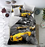 California King Versus King Size Bed CocoQueen 3d Printing Racing Car 3pc Duvet Cover Set Full Size Cotton Microfiber for Boys Kids