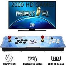 [2000 HD Arcade Games] GroGou Arcade Video Game Console 2000 Retro Games Pandora's Box 6 Arcade Machine Double Arcade Joystick Built-in Speaker
