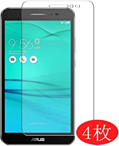 """【4 Pack】 Synvy Screen Protector for Acer ZenFone Go ZB690KG 6.9"""" TPU Flexible HD Clear Case-Friendly Film Protective Protectors [Not Tempered Glass] New Version"""